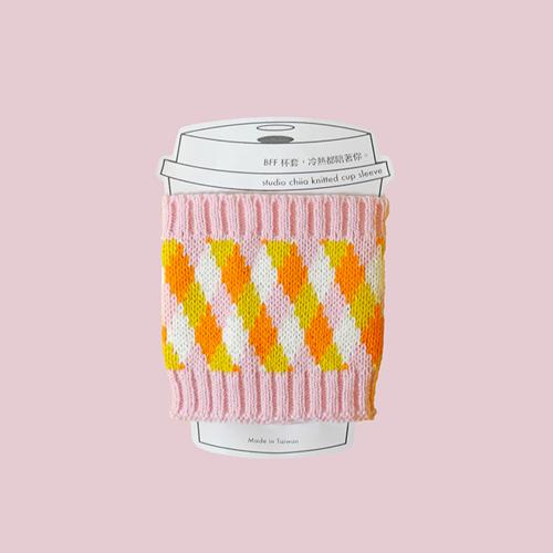 studio chiia好耘設計|針織環保隔熱杯套(粉色)