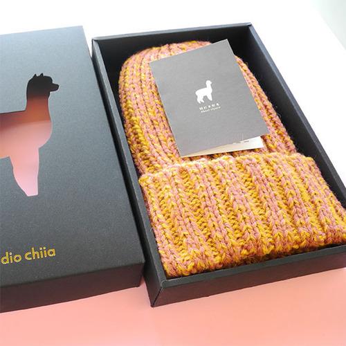 studio chiia好耘設計|秘魯羊駝毛-手工毛帽 (黃色)