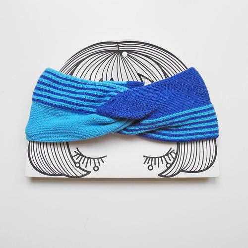 studio chiia好耘設計|法式手工髮帶|水藍+藍