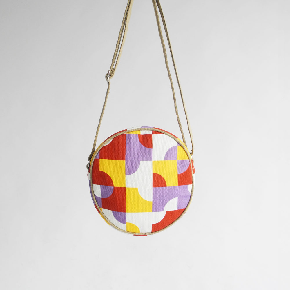 studio chiia好耘設計|印花小圓包-磁磚|紅