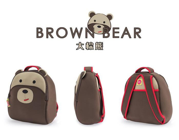 美國Dabbawalla瓦拉包 棕熊兒童後背包