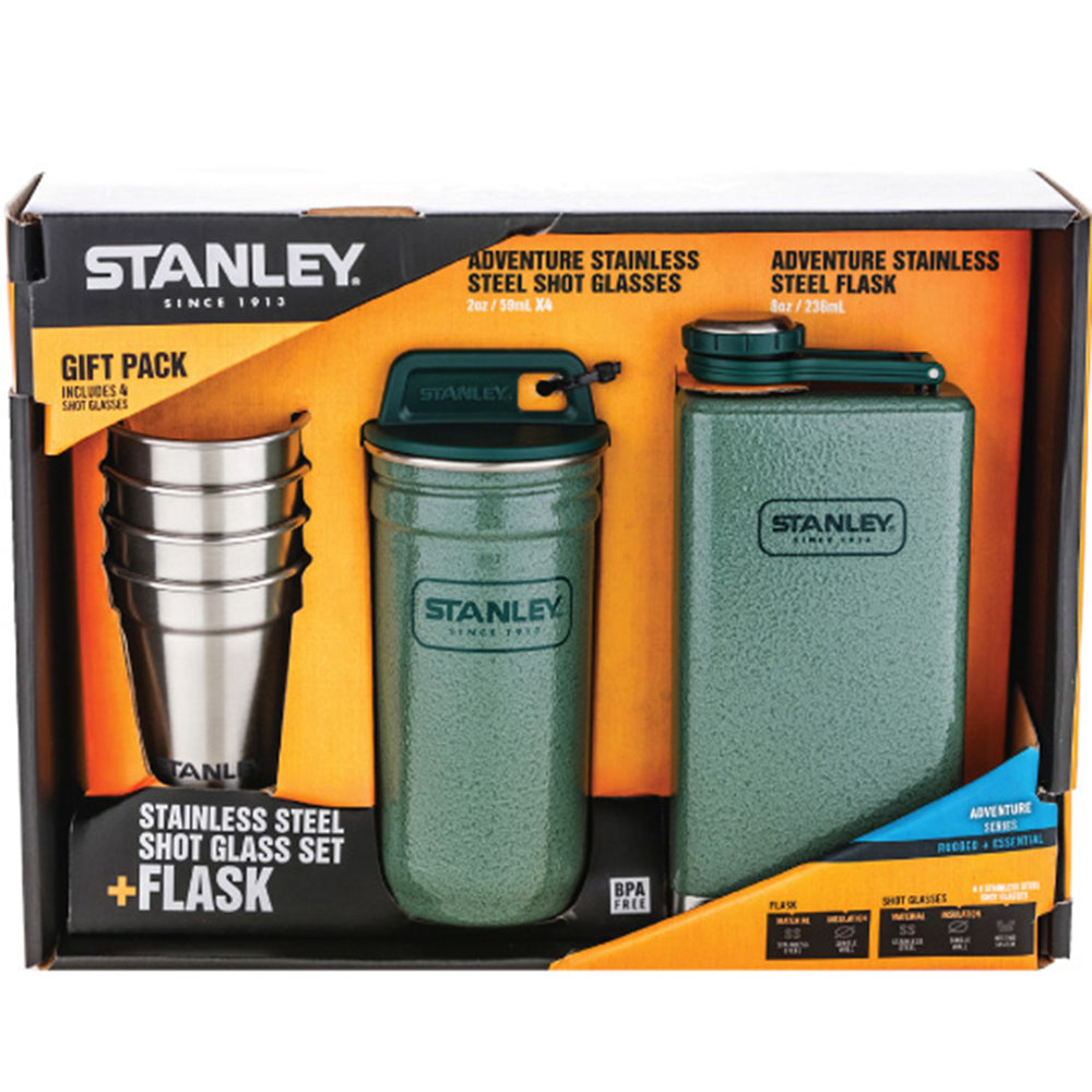 Stanley|冒險系列酒壺組236ml(錘紋綠)