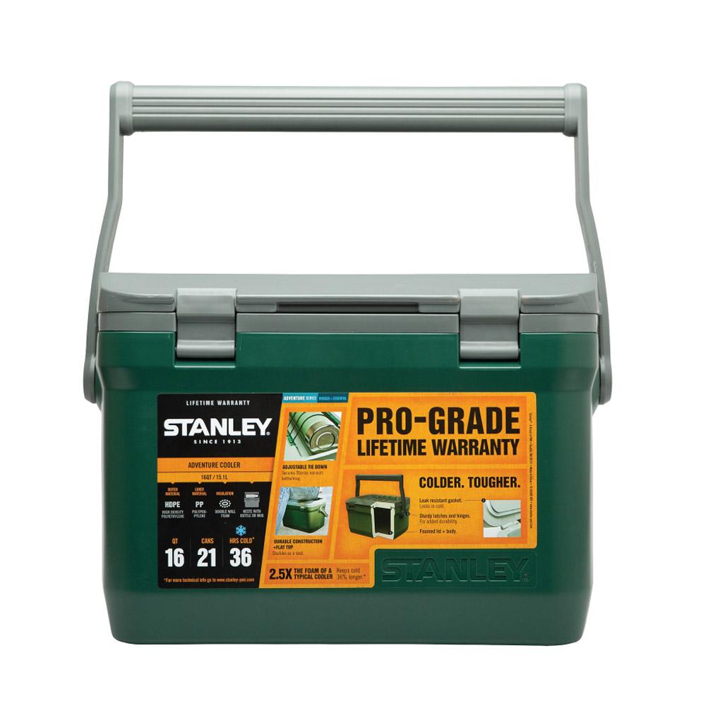 Stanley|15.1L可提式超長效能保溫冰桶/野餐籃-綠 (可攜水壺/做椅子)