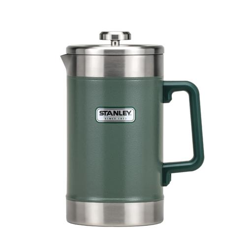 Stanley|巨無霸保溫咖啡茶葉壓濾壺1.4L-錘紋綠