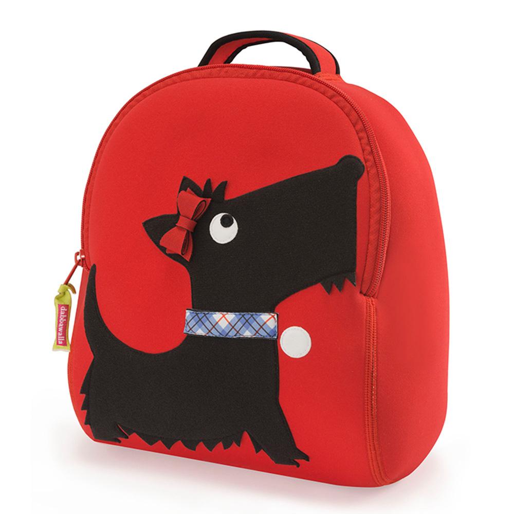 美國Dabbawalla瓦拉包|貴族犬兒童後背包-紅邊