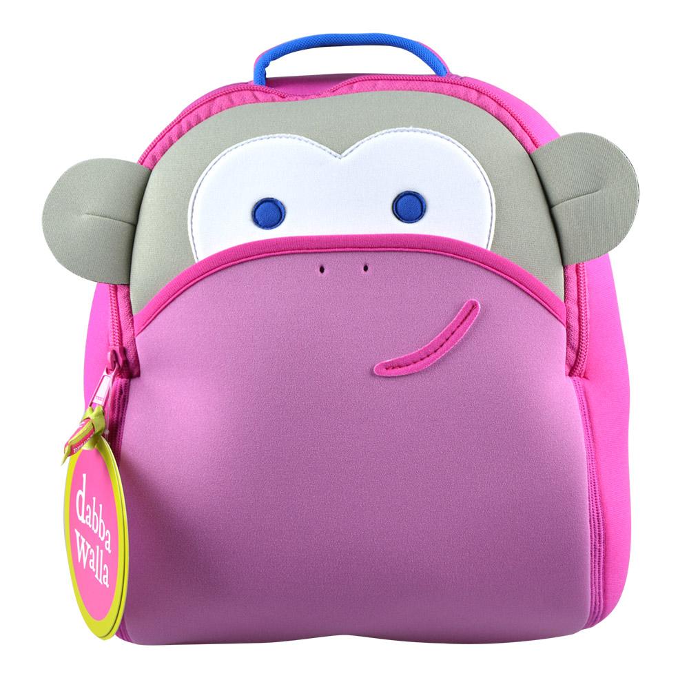 美國Dabbawalla瓦拉包 粉紅猴子兒童後背包