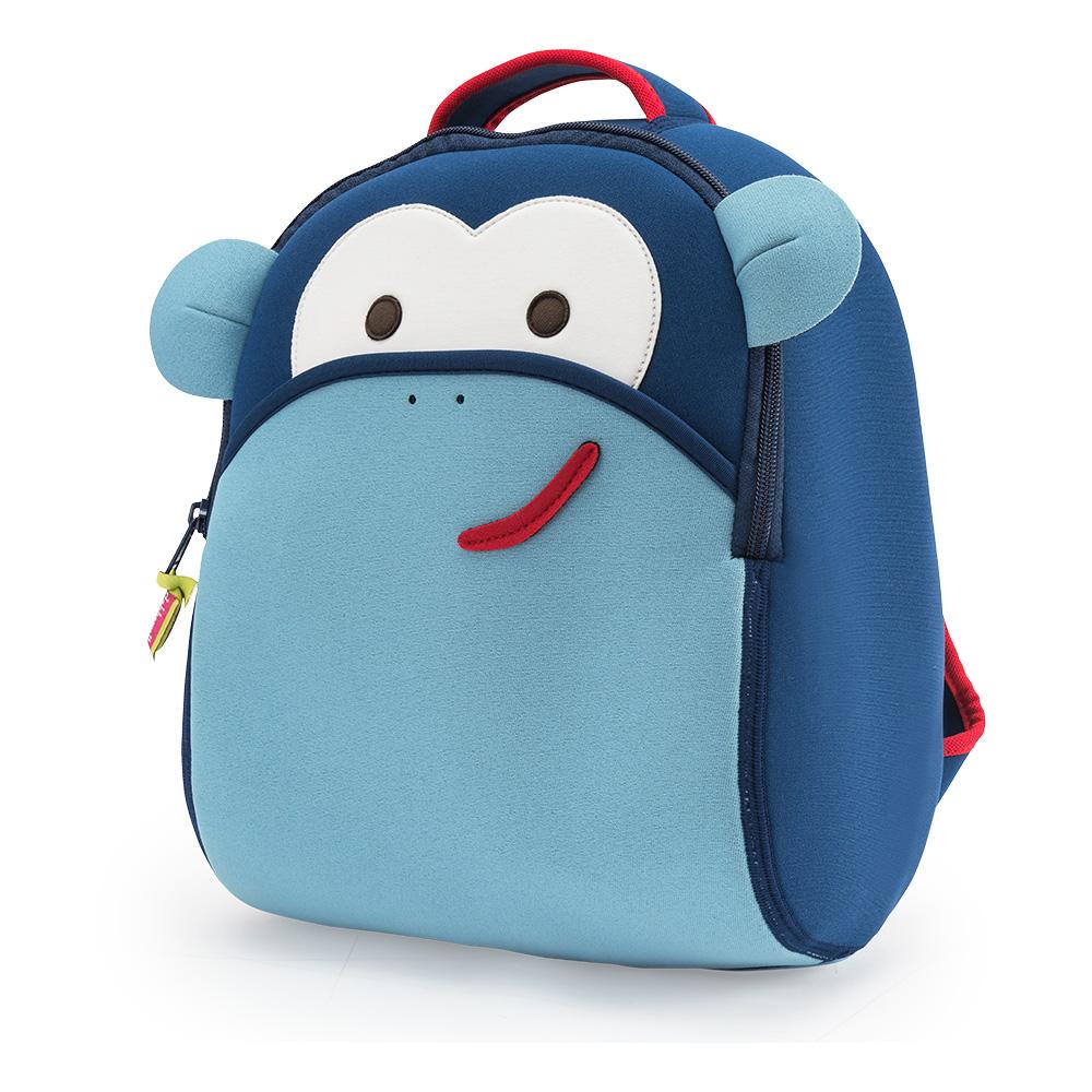 美國Dabbawalla瓦拉包|藍色猴子兒童後背包