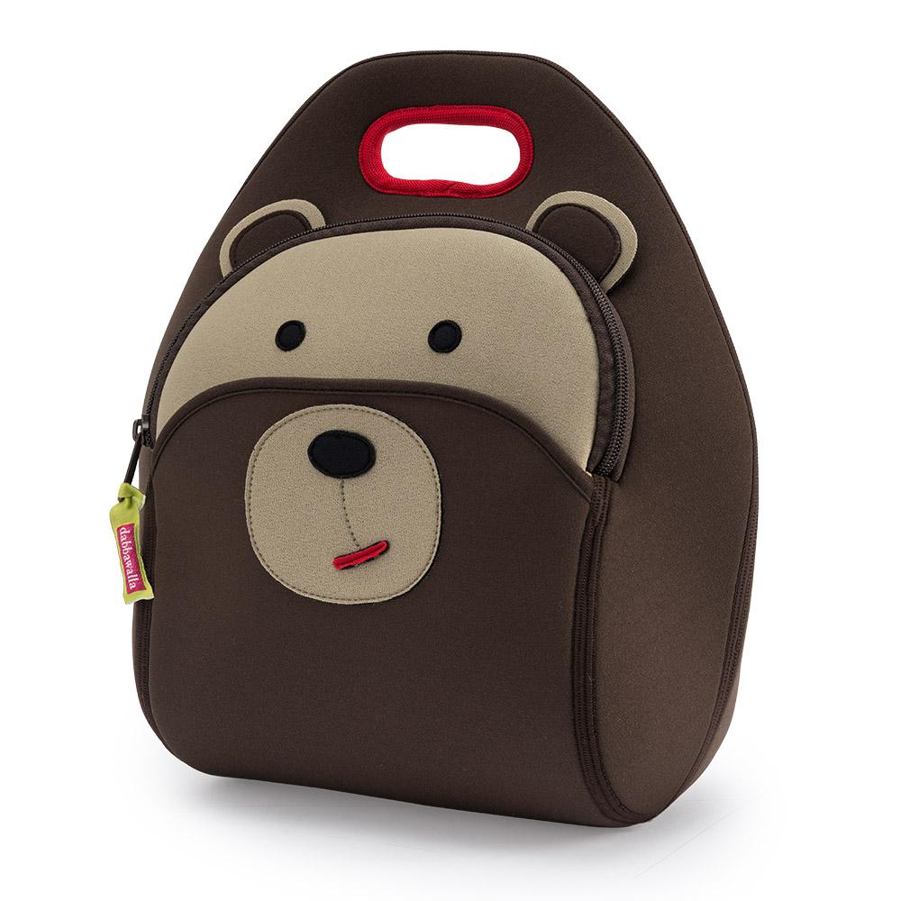 美國Dabbawalla瓦拉包 棕熊兒童手提包