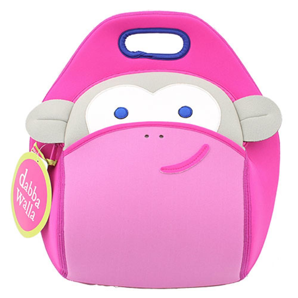 美國Dabbawalla瓦拉包 粉紅猴子兒童手提包