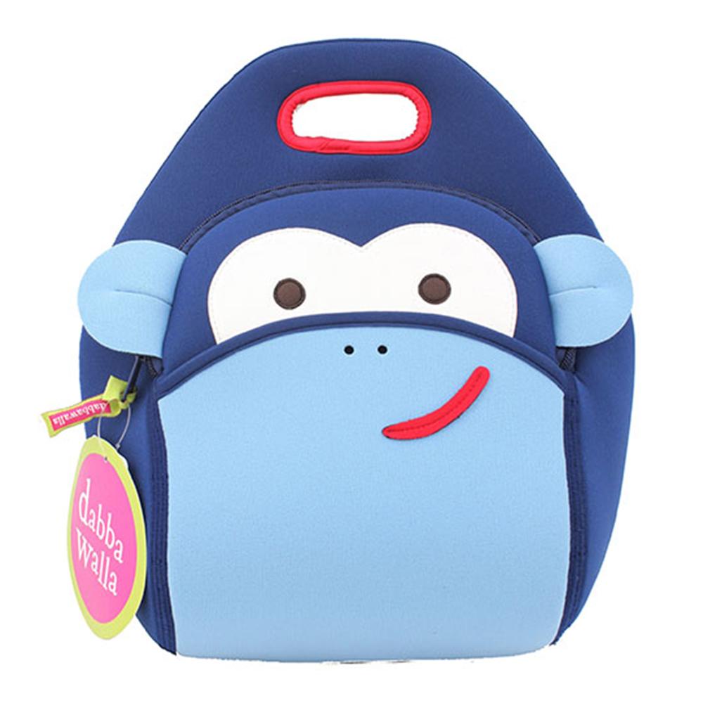 美國Dabbawalla瓦拉包 藍色猴子兒童手提包