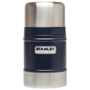 美國Stanley|經典不鏽鋼真空保溫食物悶燒罐502ml(錘紋藍)