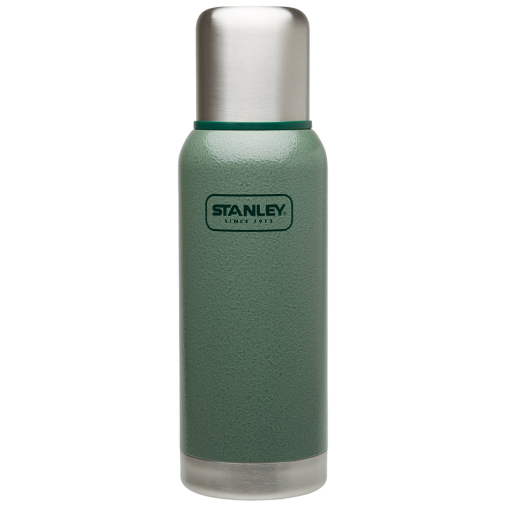 美國Stanley|冒險系列真空保溫保冷瓶 750ml(錘紋綠)