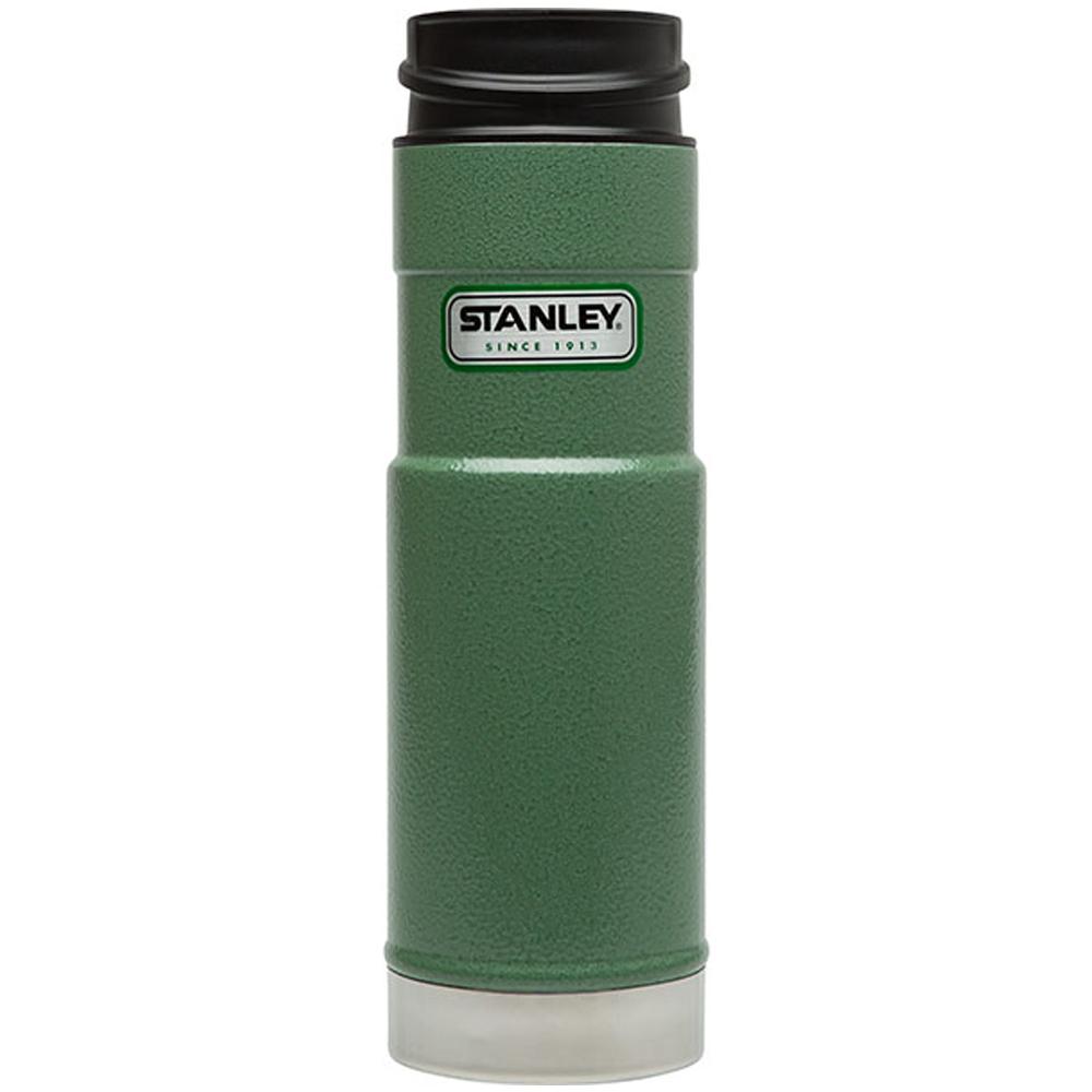 美國Stanley|經典單手保溫咖啡杯591ml-錘紋綠