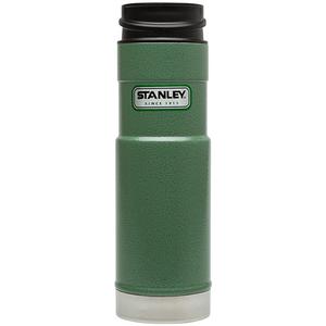 美國Stanley 經典單手保溫咖啡杯591ml-錘紋綠