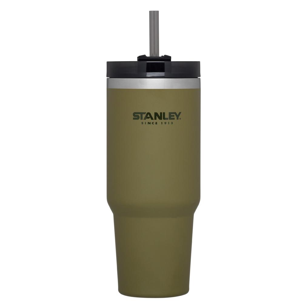美國Stanley | 冒險系列手搖飲料吸管杯0.88L-橄欖綠