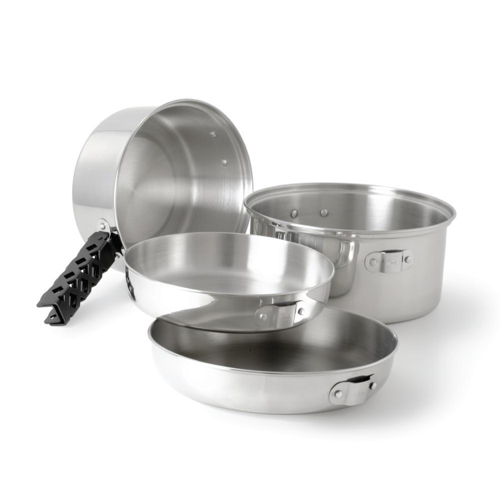 美國GSI 超輕量創意堆疊不鏽鋼套鍋組-M