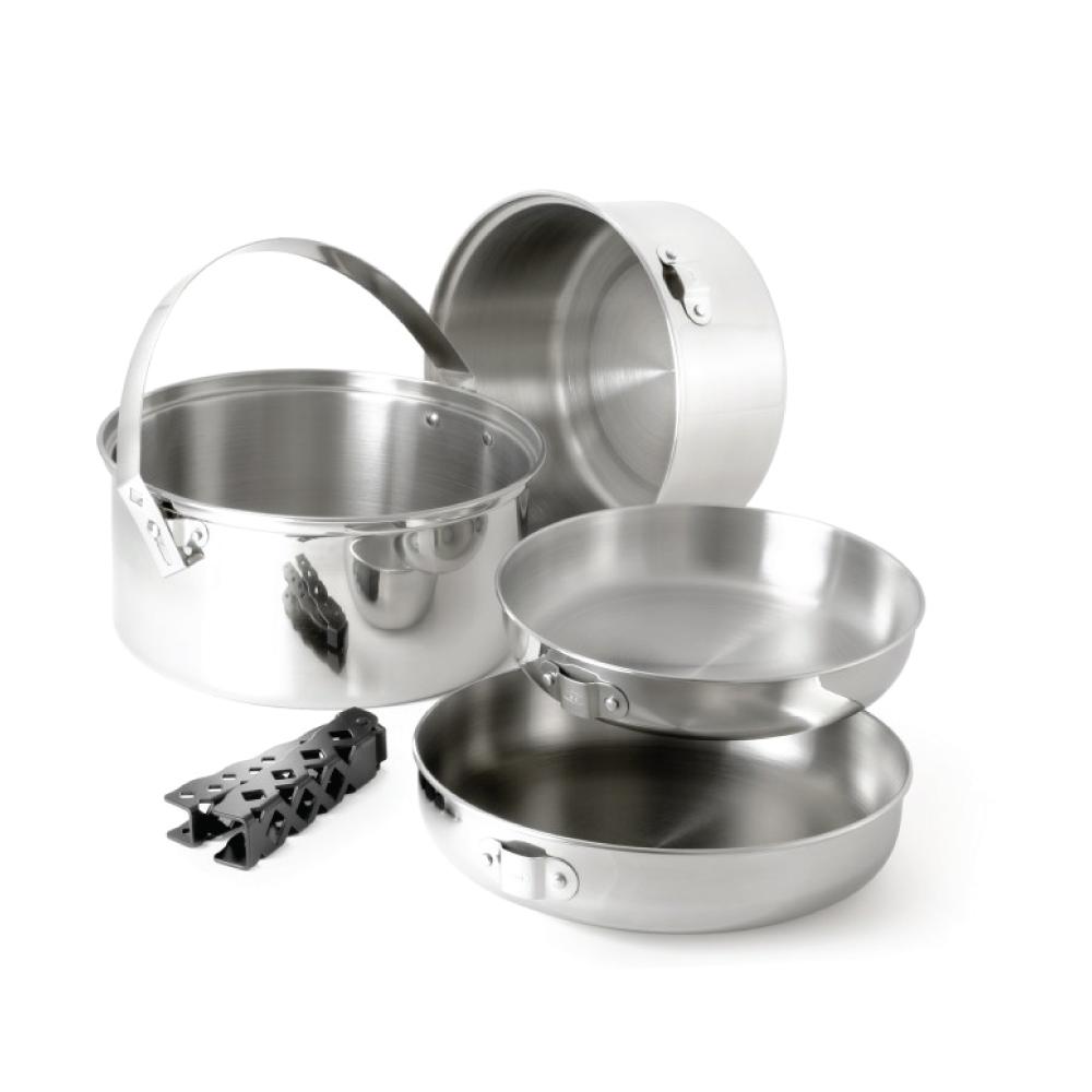 美國GSI 超輕量創意堆疊不鏽鋼套鍋組-L
