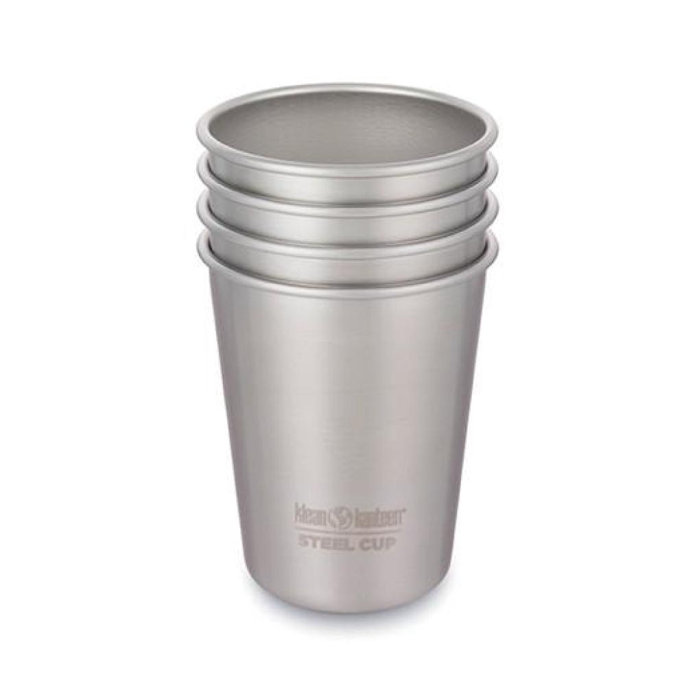 美國Klean Kanteen 不銹鋼飲料杯4入組-295ml