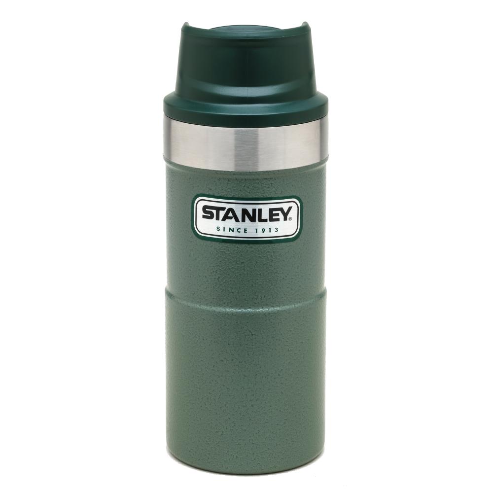 美國Stanley|時尚2.0單手保溫咖啡杯354ml-錘紋綠