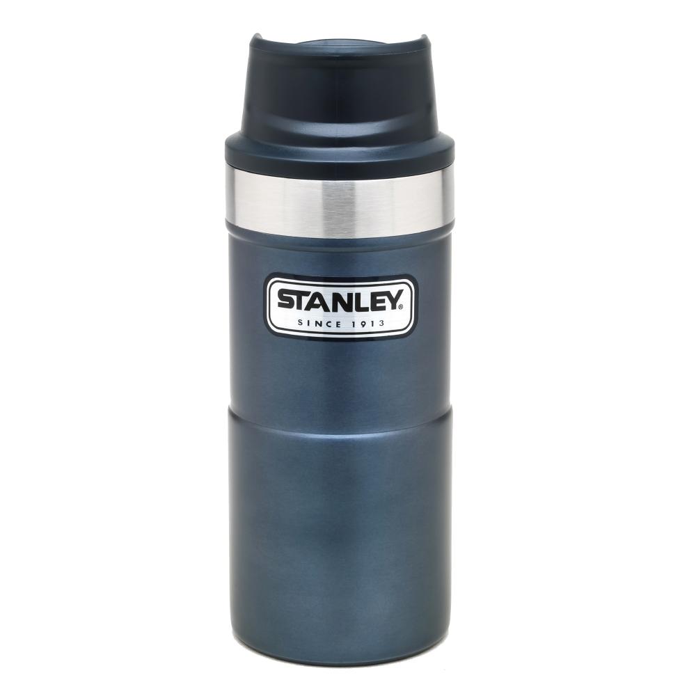 美國Stanley|時尚2.0單手保溫咖啡杯354ml-金屬藍