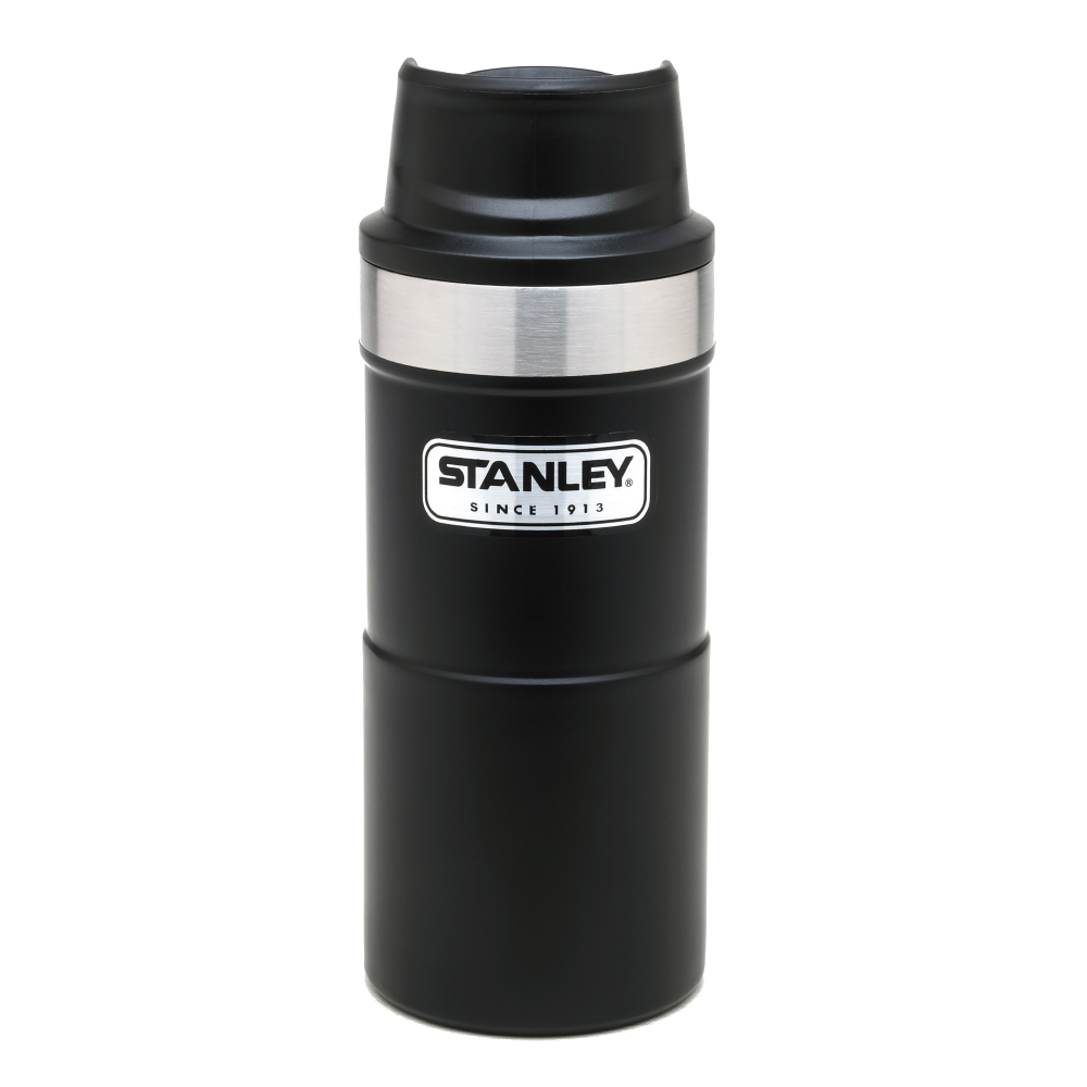 美國Stanley|時尚2.0單手保溫咖啡杯354ml-消光黑