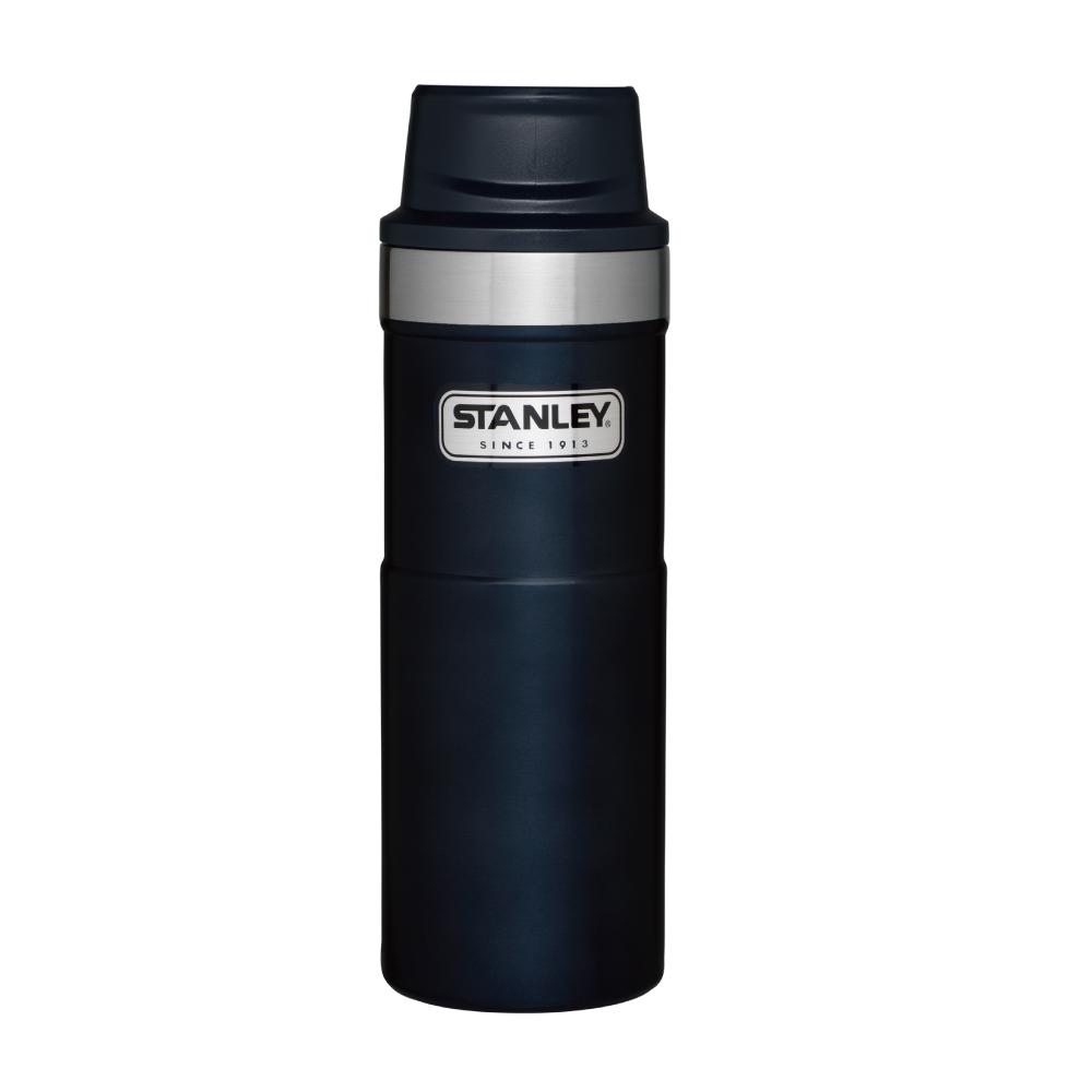 美國Stanley|時尚2.0單手保溫咖啡杯473ml-金屬藍