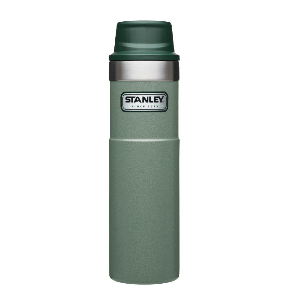 美國Stanley|時尚2.0單手保溫咖啡杯591ml-錘紋綠