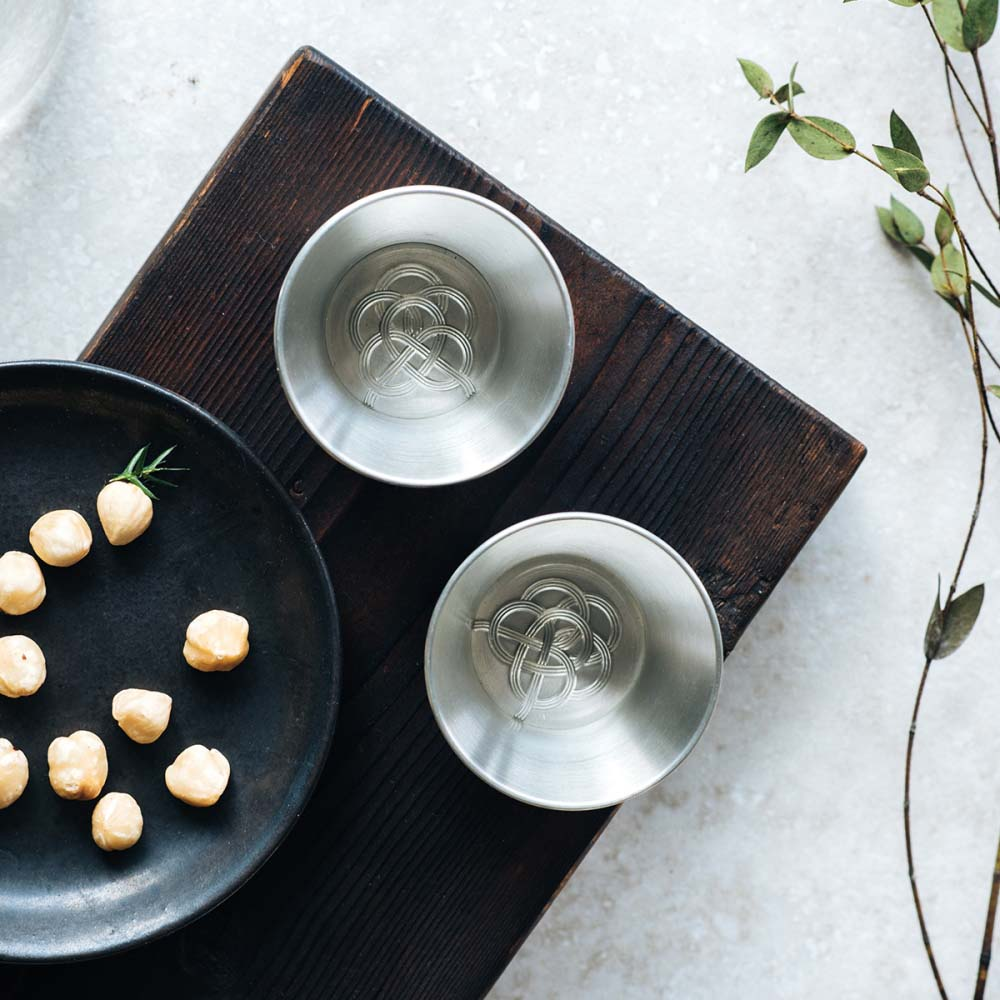 WOO Collective|彩結_純錫烈酒對杯