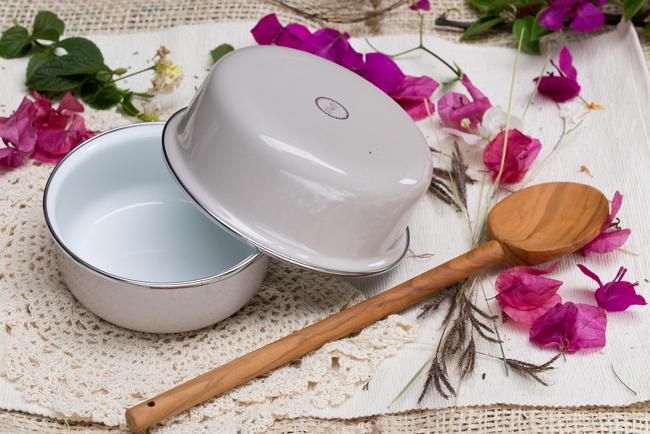 峇里島 Wind & Whisper 南洋琺瑯烤盤/烤碗2件組-白沙