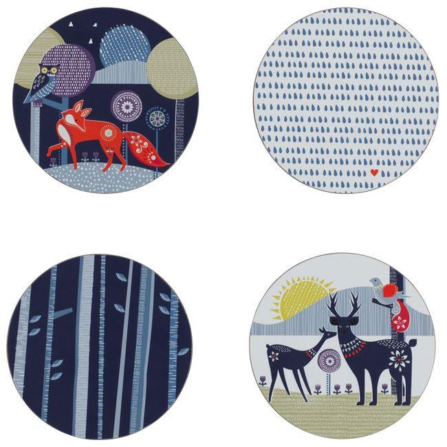 (複製)英國 Wild & Wolf|白晝黑夜系列 琺瑯雙盤組