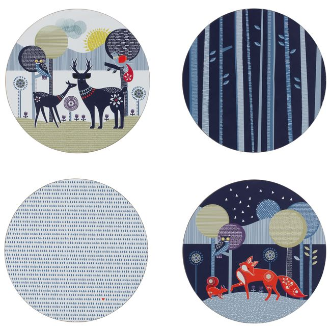 (複製)英國 Wild & Wolf 白晝黑夜系列 杯墊4件組