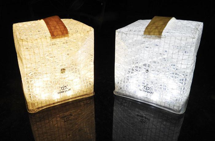 SOLIGHT DESIGN|【變形提把】發光泡芙Solarpuff-太陽能LED摺疊燈-白光