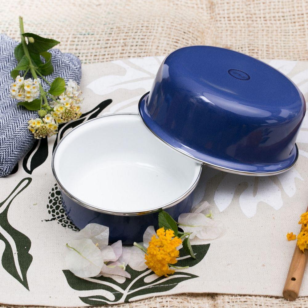峇里島 Wind & Whisper|南洋琺瑯烤盤/烤碗2件組-碧海