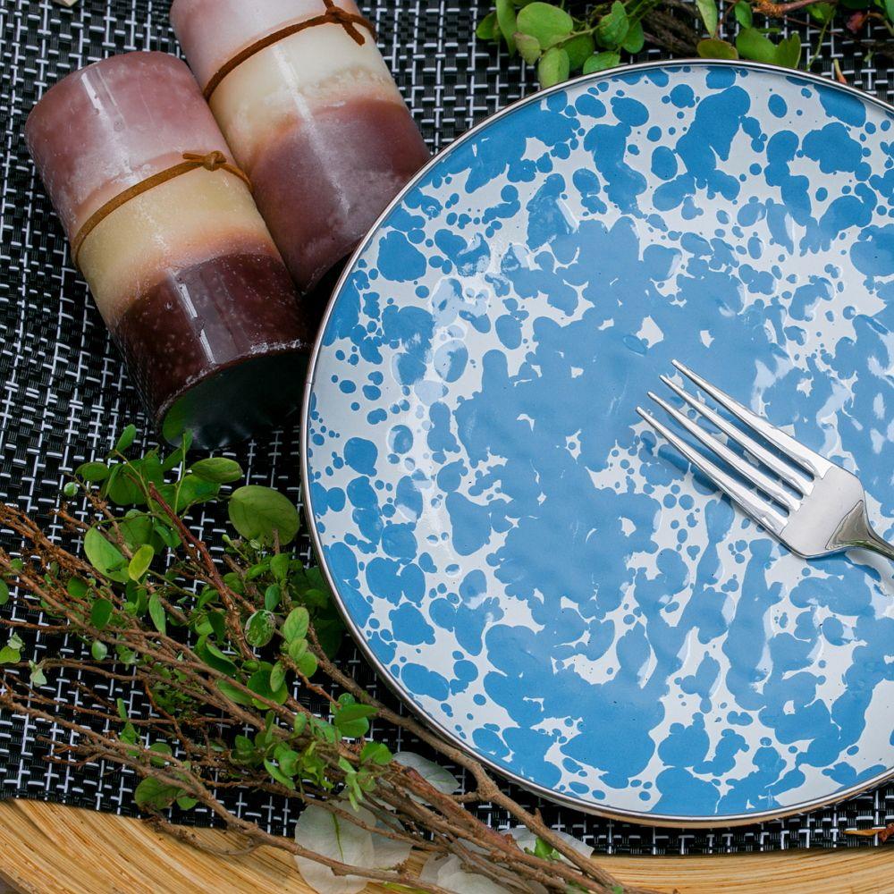 峇里島 Wind & Whisper|南洋潑墨風20cm淺盤(藍天)