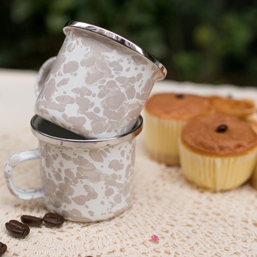 峇里島 Wind & Whisper|南洋潑墨風咖啡雙杯組(白沙)