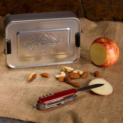 英國 Wild & Wolf|英國風探險家系列 野餐便當盒/午餐盒 銀色