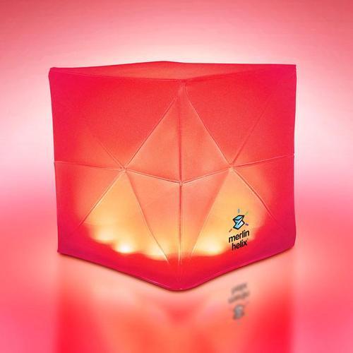 SOLIGHT DESIGN|【變形提把】發光泡芙Solarpuff-太陽能LED摺疊燈-螺旋彩虹