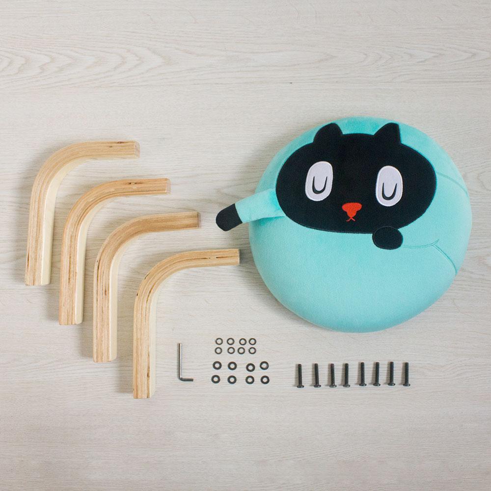 Memes Gift|Kuroro 貓貓掌小椅(藍色)