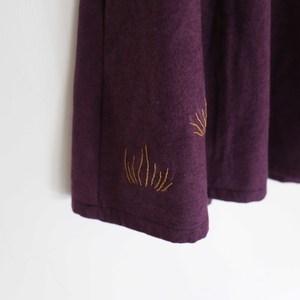 野地|/水草/ 深紫棉麻長裙