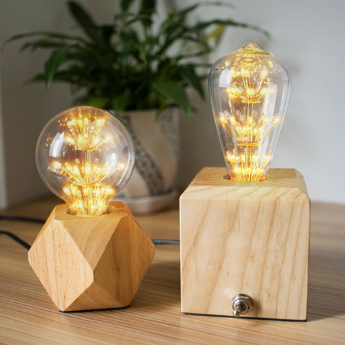 Good Form‧好造形 復古‧實木檯燈‧多角切割‧菱形檯燈