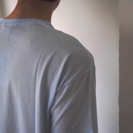 NORITAKExAURALEE|Seamless Crew Neck Tee (Light Blue) 雨 圓領棉衣