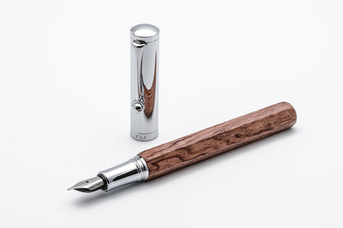 TIJ|正德國尖木質鋼筆 - 六角黃花梨系列
