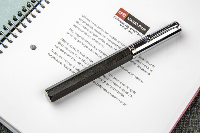 TIJ|正德國尖木質鋼筆 - 六角黑黃檀系列