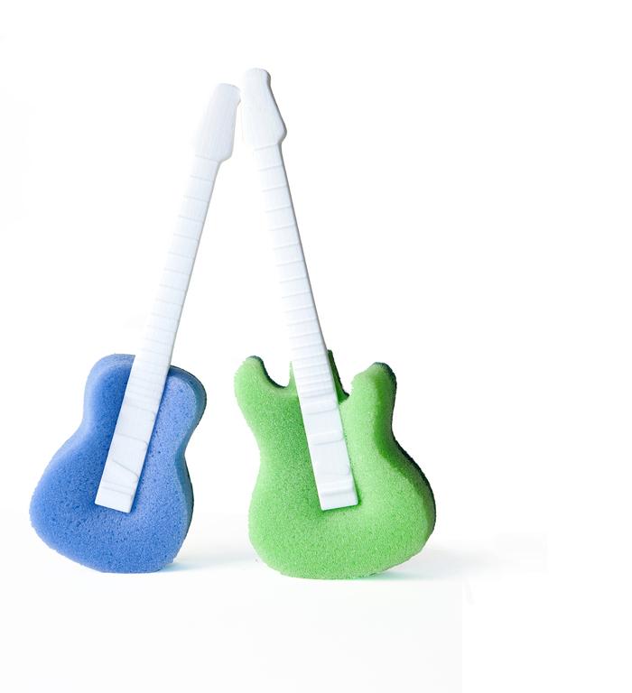 Rocket|吉他造型菜瓜布 (2個/組)