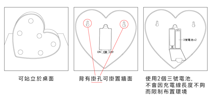 大力女|造型LED小夜燈-紅鶴