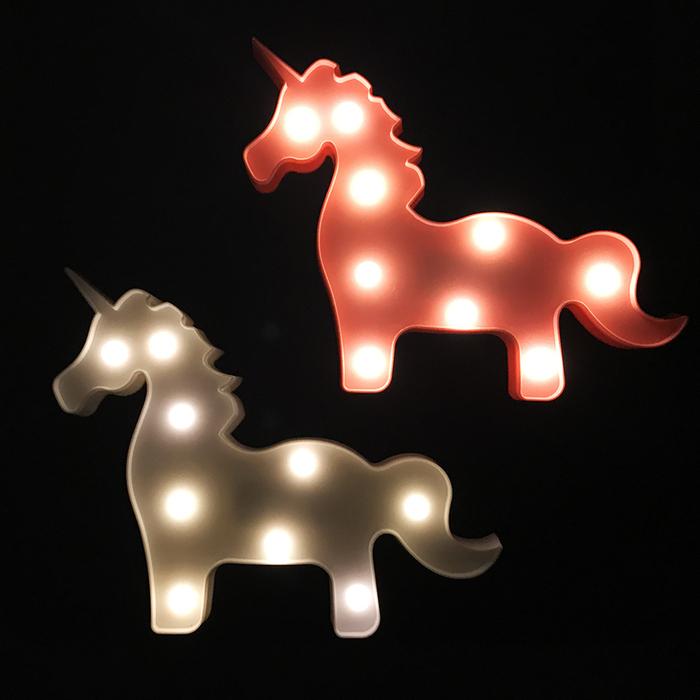 大力女|造型LED小夜燈-白色獨角獸