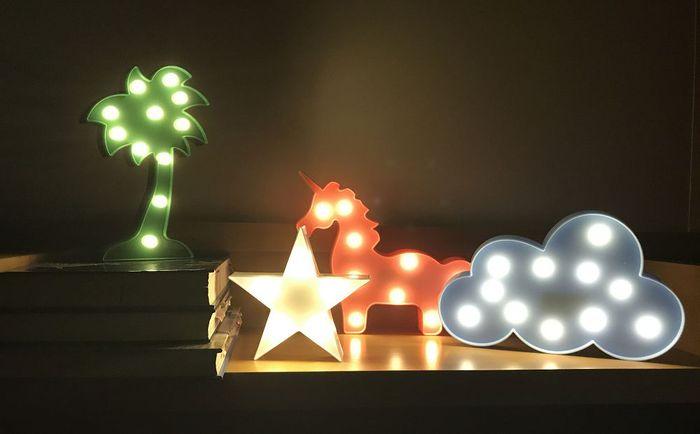 大力女 造型LED小夜燈-藍雲朵