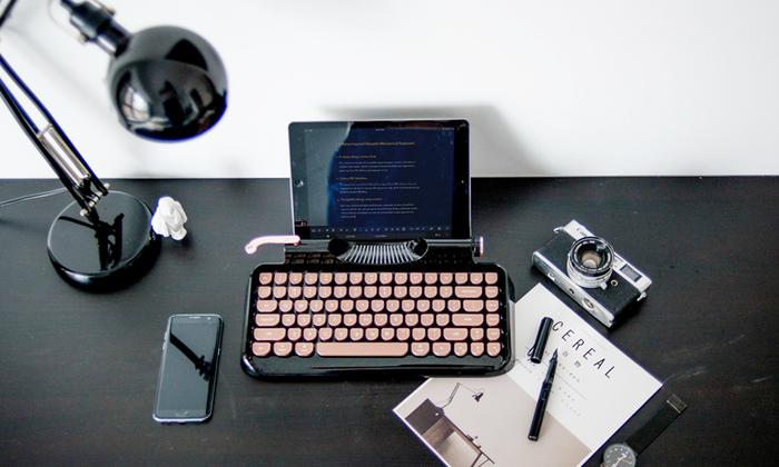 Rymek│復古藍芽機械鍵盤(中英文/青軸)