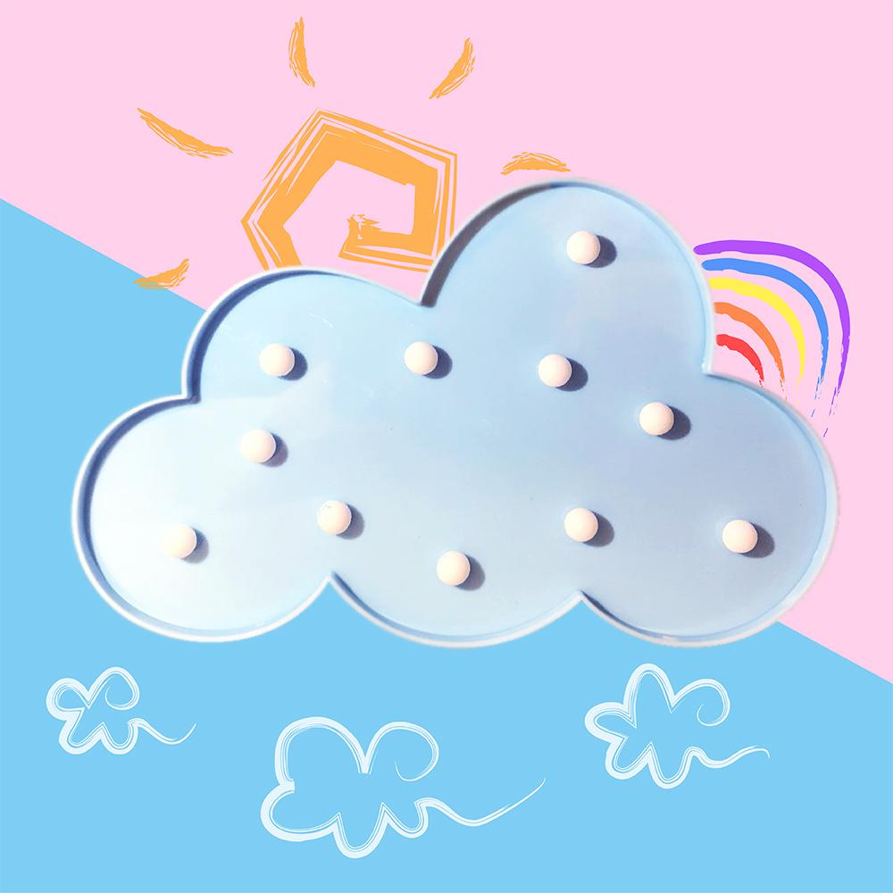 大力女|造型LED小夜燈-藍雲朵