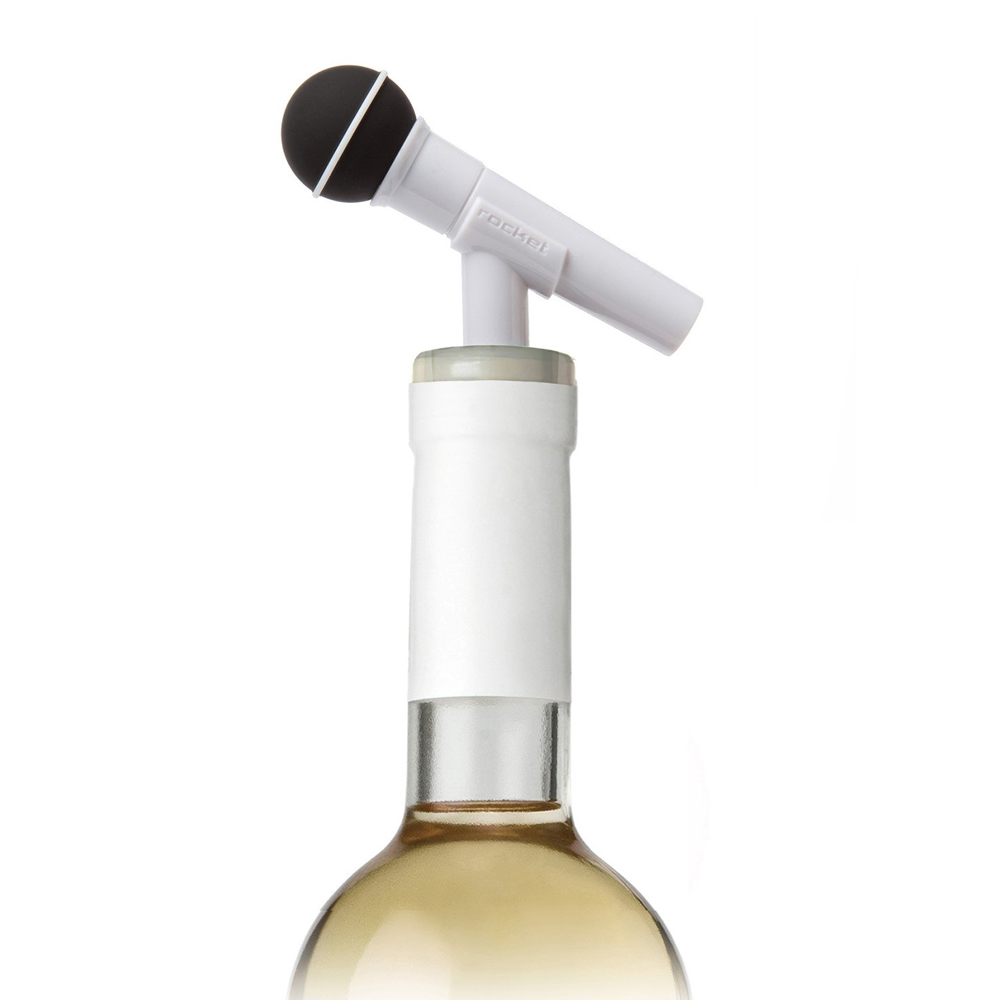 Rocket 麥克風造型酒瓶塞
